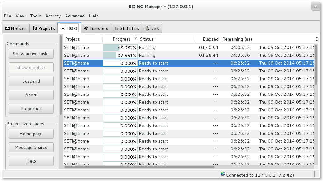BOINC Manager Sample